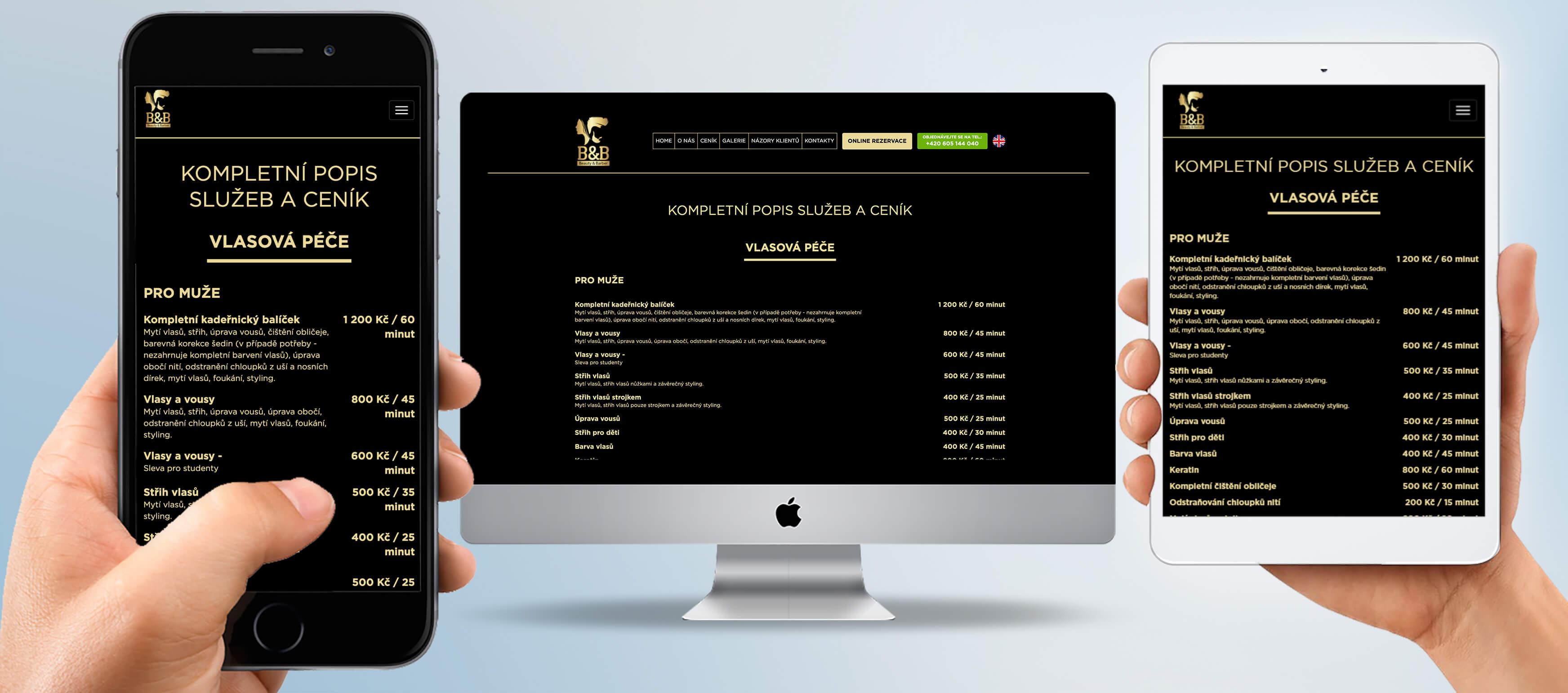 Salonbnb.cz - tvorba webových stránek